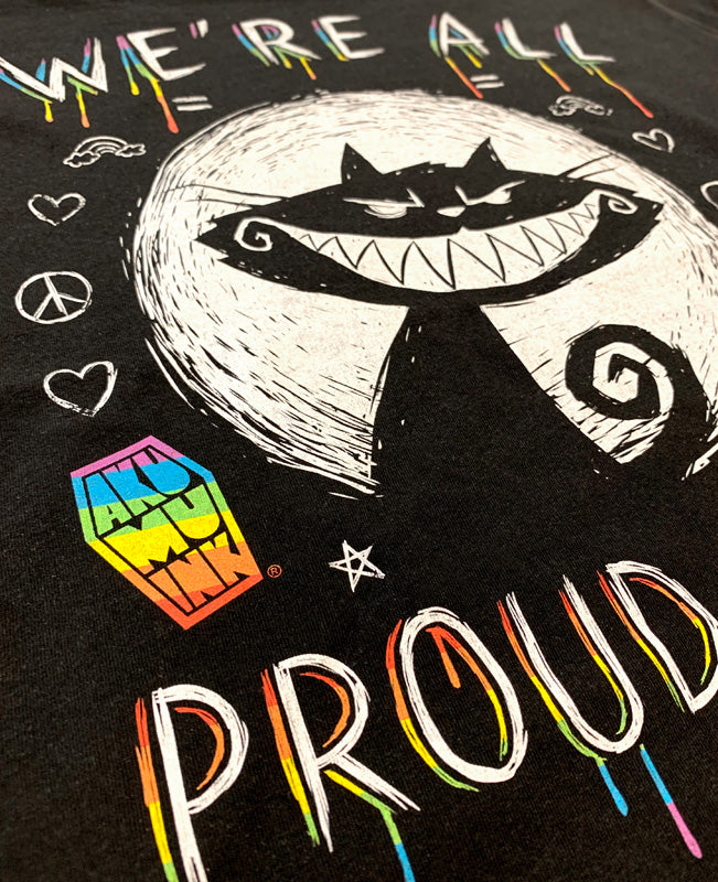 Exclusive We're All Proud Here Men Tshirt, Men Shirts, Akumu ink, goth, emo