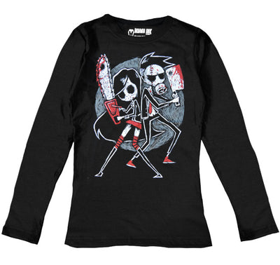Us vs. Them Women Long Sleeve Tshirt, Women Shirts, Akumu ink, goth, emo