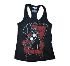 Akumu Ink Curiosity Kills Women Tanktop, Women Shirts, Akumu ink, goth, emo