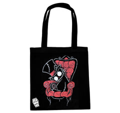 Akumu Ink Curiosity Kills Tote Bag, bag, Akumu ink, goth, emo