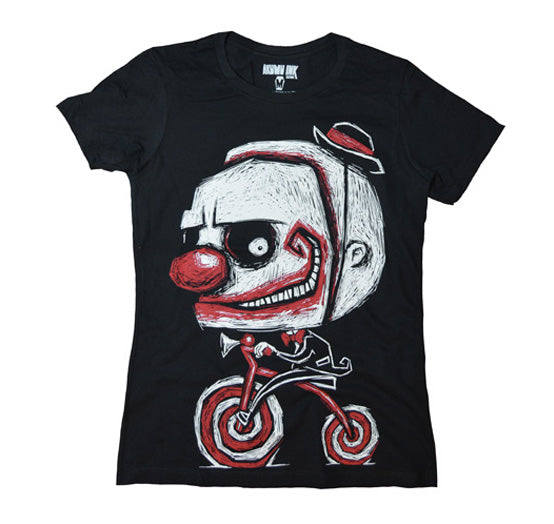 Akumu Ink Creep The Clown Women Tshirt, Women Shirts (SALE), Akumu ink, goth, emo