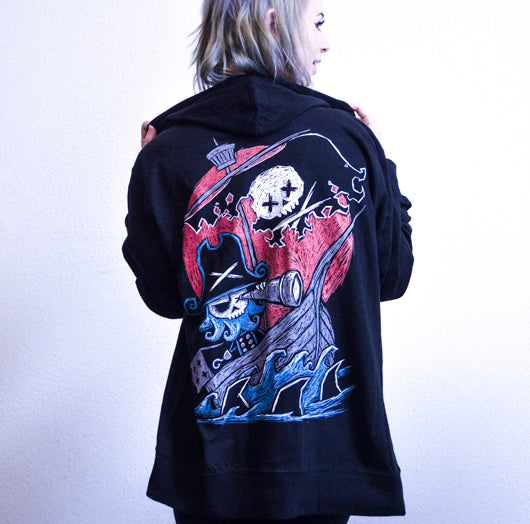 Phantom Voyage (Unisex Lightweight Hoodie) - Akumu Ink Clothing