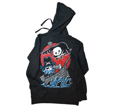 Akumu Ink Phantom Voyage Unisex Lightweight Hoodie, long sleeve, Akumu ink, goth, emo