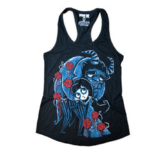 Akumu Ink Misery and the Beast Women Tanktop, Women Shirts, Akumu ink, goth, emo