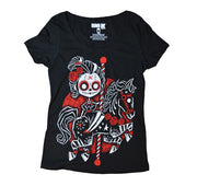 Akumu Ink Eternal Ride Women Scoop Tee, Women Shirts, Akumu ink, goth, emo