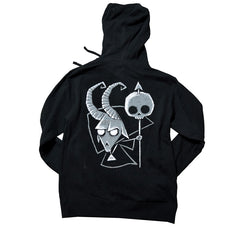 Akumu Ink Baphomet Unisex FLEECE Hoodie, long sleeve, Akumu ink, goth, emo