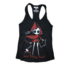 Akumu Ink Dead Riding Hood Women Tanktop, Women Shirts, Akumu ink, goth, emo
