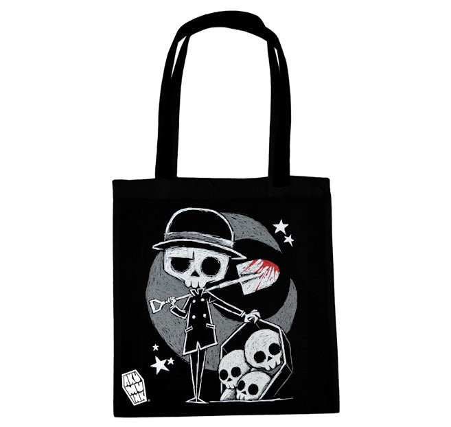 Akumu Ink The Gravedigger Tote Bag, bag, Akumu ink, goth, emo