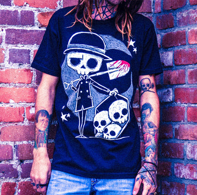 Akumu Ink The Gravedigger Men Tshirt, Men Shirts, Akumu ink, goth, emo