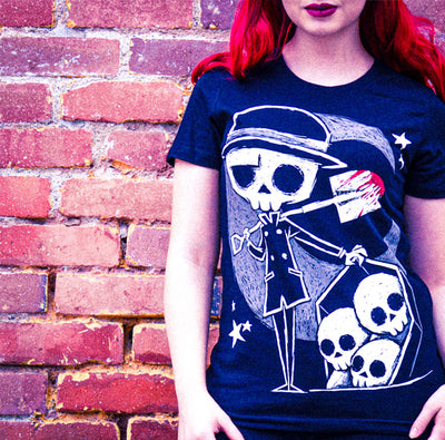Akumu Ink The Gravedigger Women Tshirt, Women Shirts, Akumu ink, goth, emo