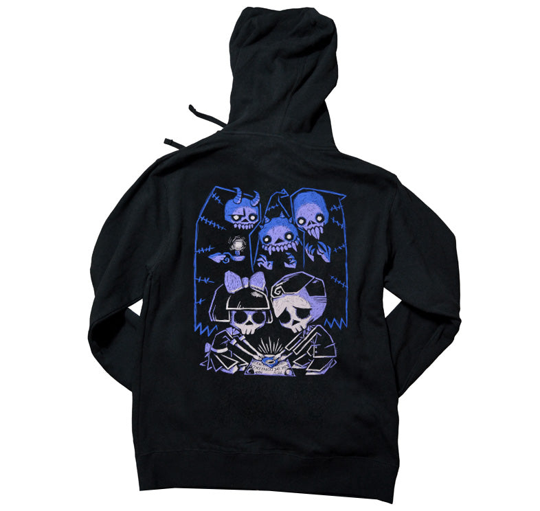 Akumu Ink Play with Spirits Unisex FLEECE Hoodie, long sleeve, Akumu ink, goth, emo