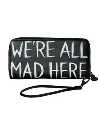 Akumu Ink We're All Mad Here Long Wallet, Accessories, Akumu ink, goth, emo