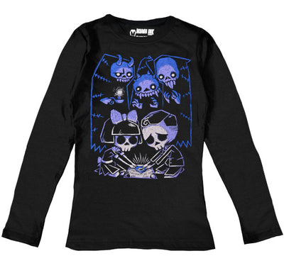 Play with Spirits Women Long Sleeve Tshirt, Women Shirts, Akumu ink, goth, emo