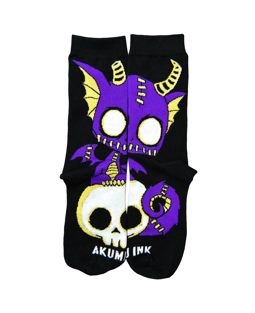 Akumu Ink Immortal Companion Unisex Socks, Accessories, Akumu ink, goth, emo