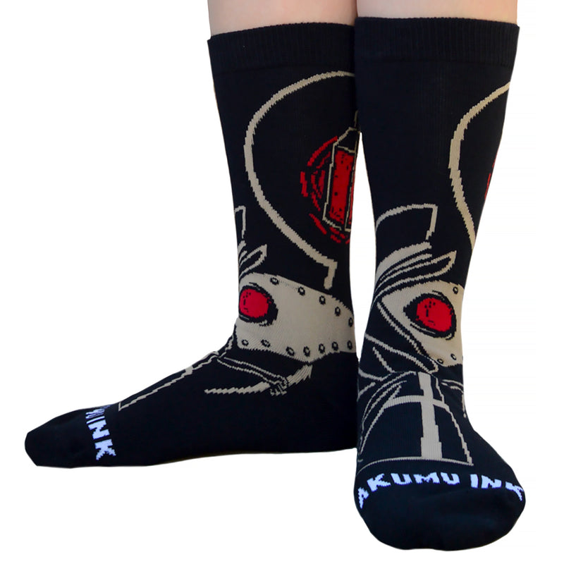 Akumu Ink Plague Seeker Unisex Socks, Accessories, Akumu ink, goth, emo