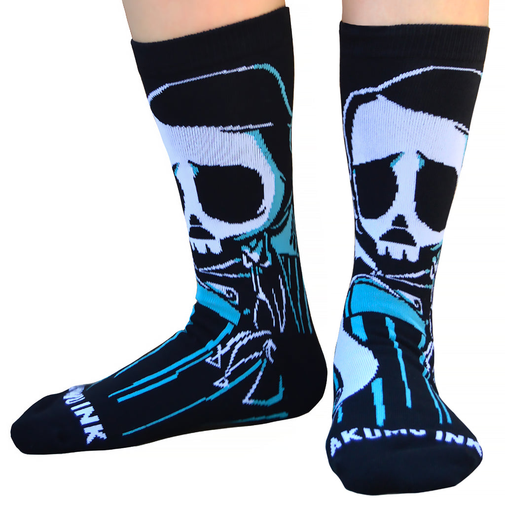 Akumu Ink Lonely Writer Unisex Socks, Accessories, Akumu ink, goth, emo