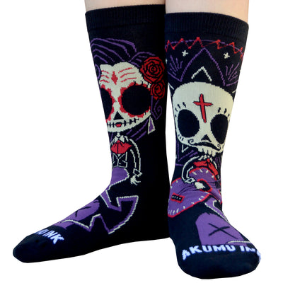 Akumu Ink Timeless Union Unisex Socks, Accessories, Akumu ink, goth, emo
