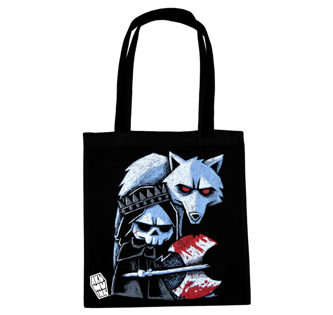 Akumu Ink Conquer Thy Enemy Tote Bag, bag, Akumu ink, goth, emo
