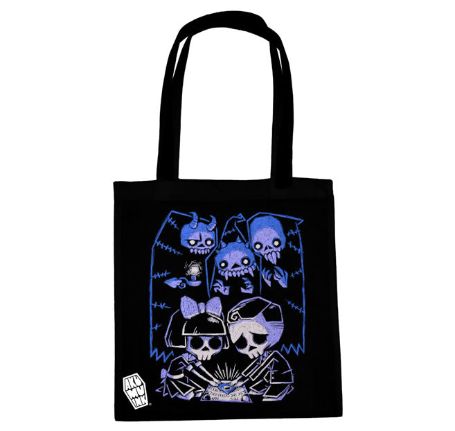 Akumu Ink Play With Spirits Tote Bag, bag, Akumu ink, goth, emo