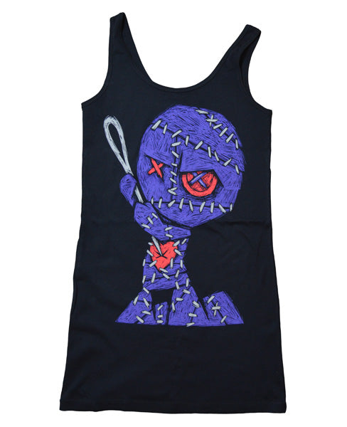 Akumu Ink Voodoo Seppuku II Women Long Tanktop, Women Shirts, Akumu ink, goth, emo