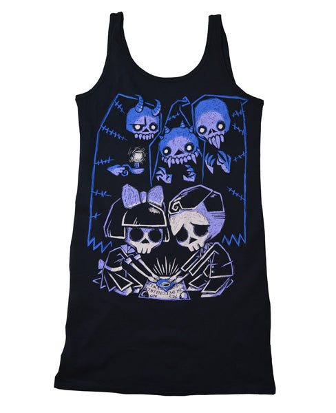 Akumu Ink Play With Spirits Long Tanktop, Women Shirts, Akumu ink, goth, emo