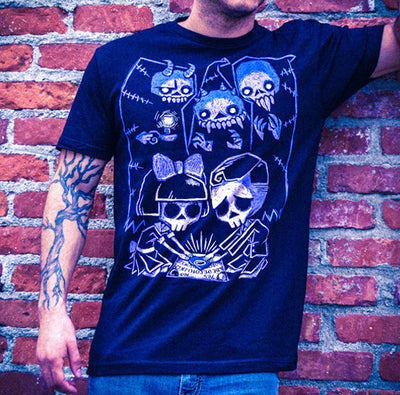 Akumu Ink Play With Spirits Men Tshirt, Men Shirts, Akumu ink, goth, emo