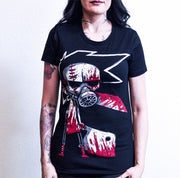 Akumu Ink Butcher III: The Reckoning Women Tshirt, Women Shirts, Akumu ink, goth, emo