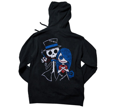Akumu Ink Stitch Me A Smile Unisex FLEECE Hoodie, long sleeve, Akumu ink, goth, emo