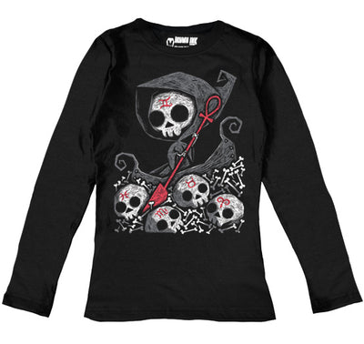 Infernal River Women Long Sleeve Tshirt, Women Shirts, Akumu ink, goth, emo