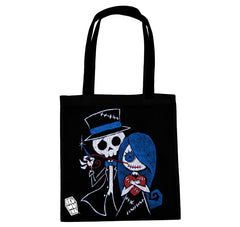 Akumu Ink Stitch Me a Smile Tote Bag, bag, Akumu ink, goth, emo