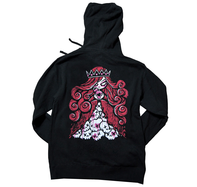 Akumu Ink Queen of Bleeding Hearts Unisex FLEECE Hoodie, long sleeve, Akumu ink, goth, emo