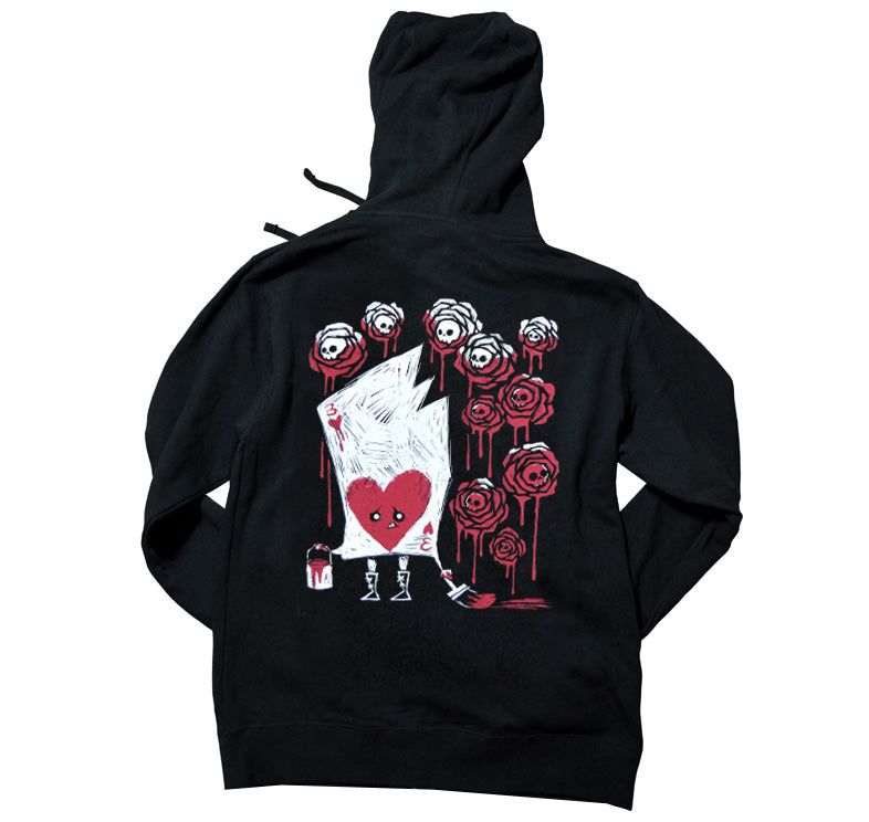 Akumu Ink Painting The Roses With Blood Unisex FLEECE Hoodie