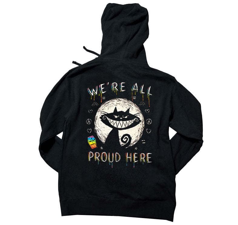 Akumu Ink We're All Proud Here Unisex FLEECE Hoodie