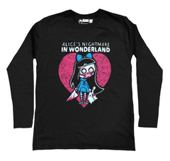 Alice's Nightmare in Wonderland Men Long Sleeve Tshirt