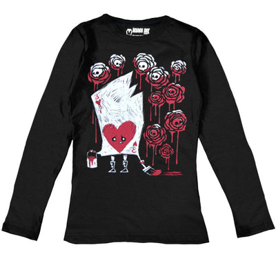 Painting The Roses With Blood Women Long Sleeve Tshirt