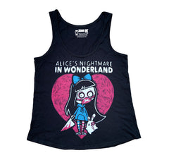 Akumu Ink Alice's Nightmare Women Tanktop, Women Shirts, Akumu ink, goth, emo
