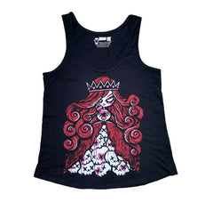 Queen of Bleeding Hearts Women Tanktop, Women Shirts, Akumu ink, goth, emo
