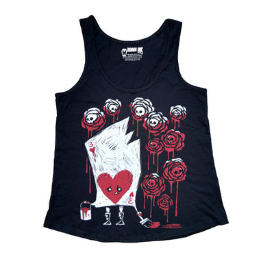 Painting The Roses With Blood Women Tanktop, Women Shirts, Akumu ink, goth, emo