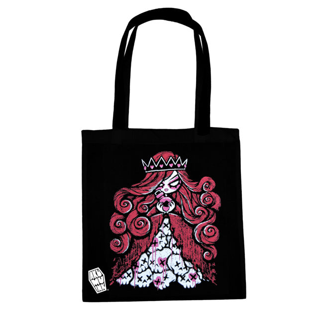 Akumu Ink Queen of Bleeding Hearts Tote Bag, bag, Akumu ink, goth, emo