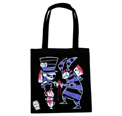 Akumu Ink Tea Party Tote Bag, bag, Akumu ink, goth, emo
