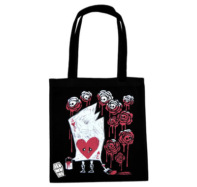 Akumu Ink Painting the Roses With Blood Tote Bag, bag, Akumu ink, goth, emo