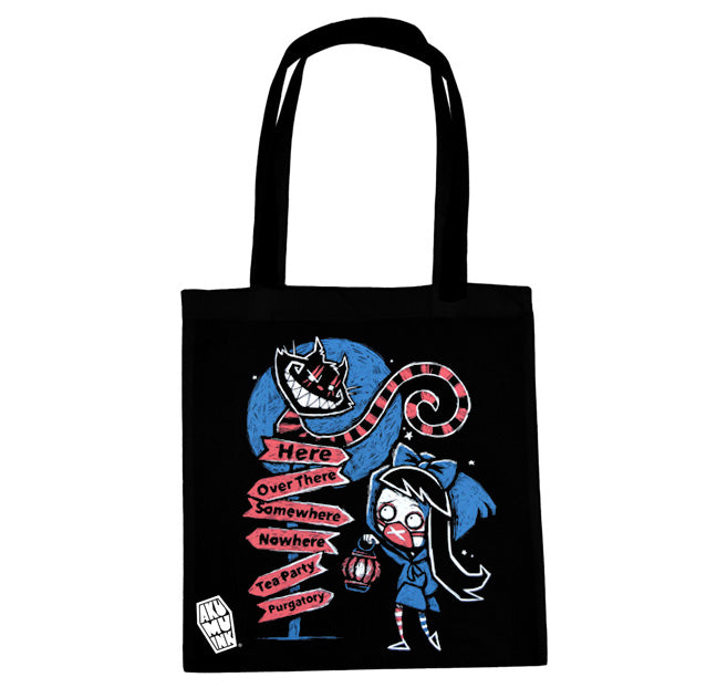 Akumu Ink A Smile in the Dark Tote Bag, bag, Akumu ink, goth, emo