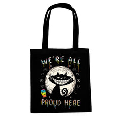Akumu Ink We're All Proud Here Tote Bag, bag, Akumu ink, goth, emo