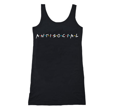 Akumu Ink Antisocial Long Tanktop, Women Shirts, Akumu ink, goth, emo
