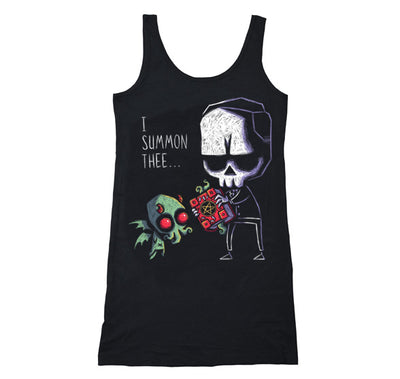 Akumu Ink I Summon Thee Long Tanktop, Women Shirts, Akumu ink, goth, emo