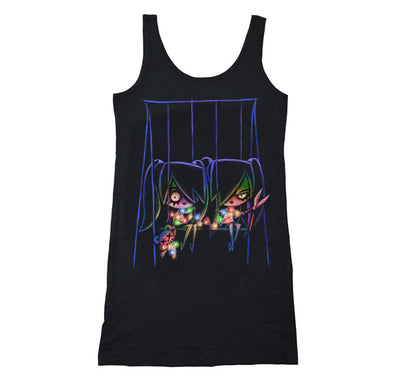 Playground Twins Long Tanktop, Women Shirts, Akumu ink, goth, emo