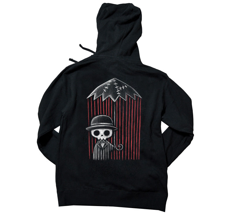 Akumu Ink Internal Storm Unisex FLEECE Hoodie, long sleeve, Akumu ink, goth, emo