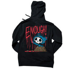 Akumu Ink ENOUGH! Unisex FLEECE Hoodie, long sleeve, Akumu ink, goth, emo