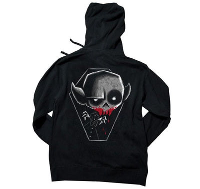 Akumu Ink Vampire Unisex FLEECE Hoodie, long sleeve, Akumu ink, goth, emo