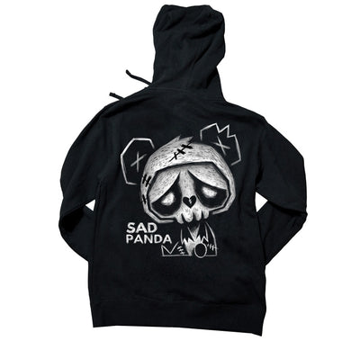 Akumu Ink Sad Panda Unisex FLEECE Hoodie